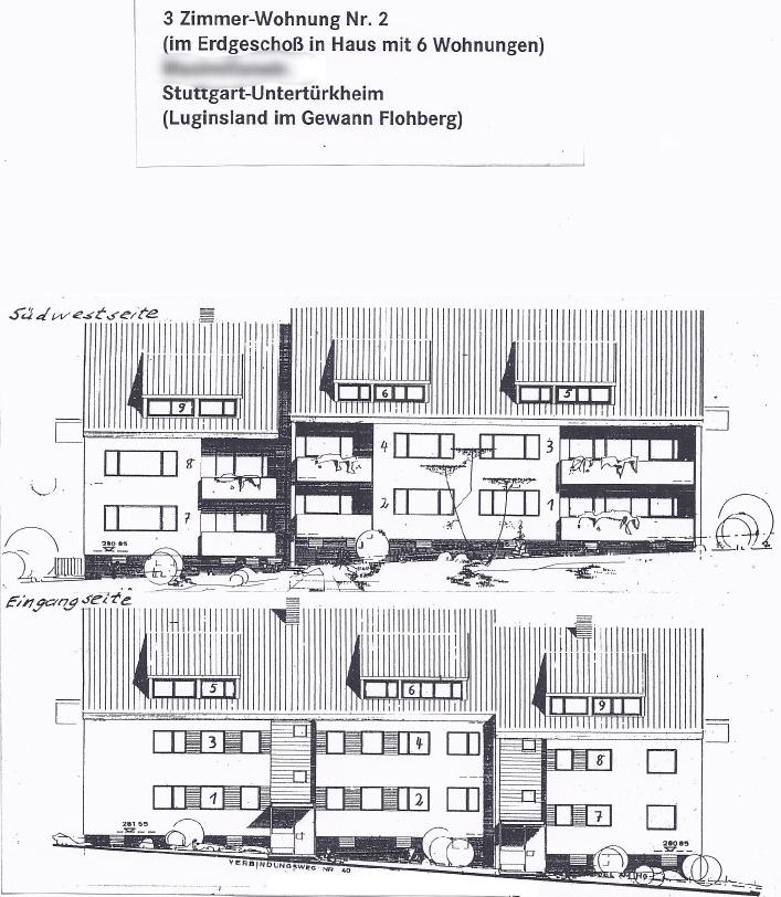 Großzügige helle 3-Zimmer-Wohnung in ruhiger Wohngegend mit Loggia in Südwestlage von Privat
