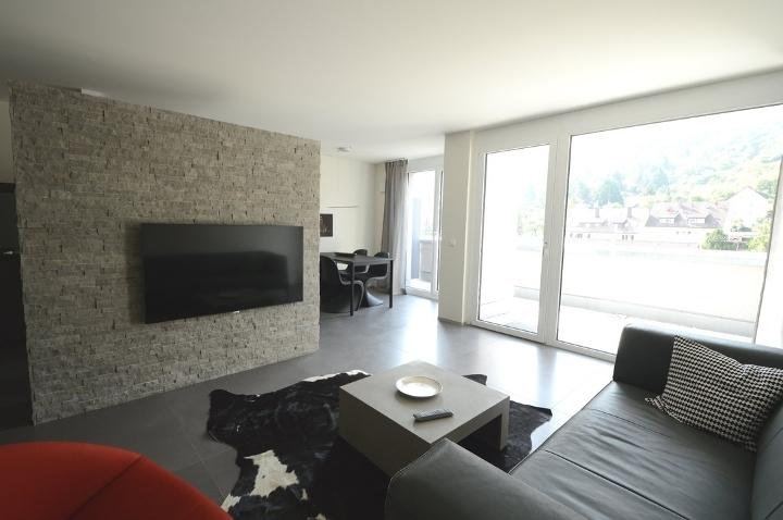 modern rooftop apartment including kitchen and parking area in perfect location